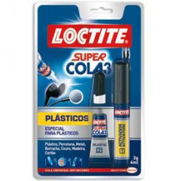 Loctite Super Cola 3 - Plásticos